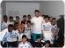 Akademikerbund-Landesobmann Abg. Lukas Mandl mit einem Team von einer Flüchtlingsunterkunft in Mödling